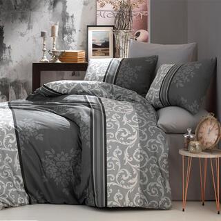 Bavlněné ložní povlečení NATURA šedé, francouzská postel