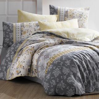 Bavlněné ložní povlečení VERA šedé, francouzská postel