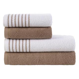 Sada froté ručníků a osušek  DAVOS oříšková 4 ks