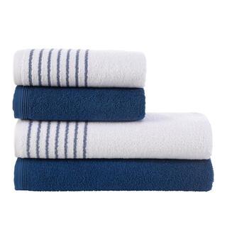 Sada froté  ručníků a osušek  DAVOS námořnická modř 4 ks