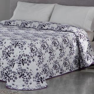 Přehoz přes postel CARLOTA fialový, dvojlůžko
