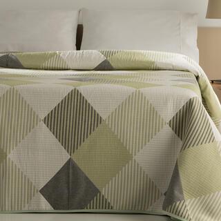 Přehoz přes postel RUBI zelený, dvojlůžko
