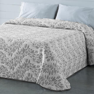 Přehoz přes postel EUGENIA šedý, dvojlůžko