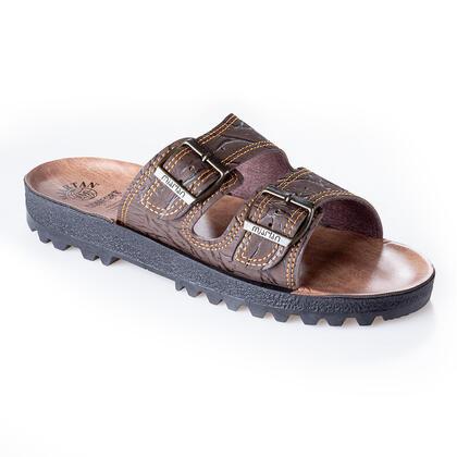 Pánské pantofle klasik hnědé