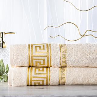 Sada 2 ks bambusových ručníků ROMA smetanová 50 x 100 cm