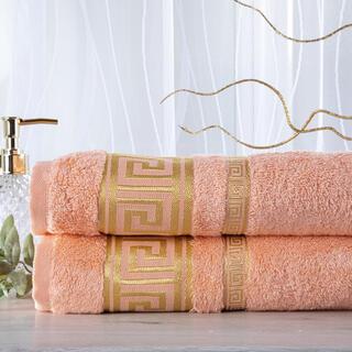 Sada 2 kusů bambusových ručníků ROMA meruňková 50 x 100 cm