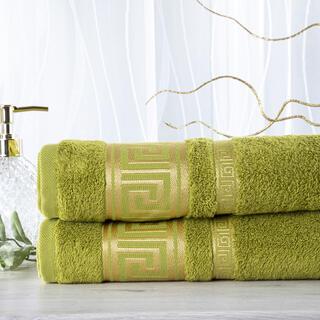Sada 2 kusů bambusových ručníků ROMA zelená 50 x 100 cm