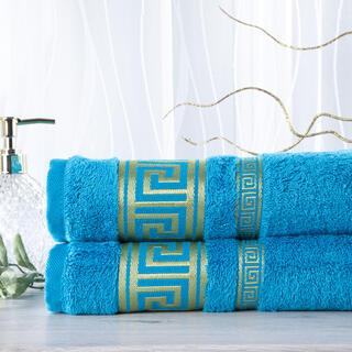Sada 2 kusů bambusových ručníků ROMA tyrkysová 50 x 100 cm