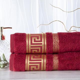 Sada 2 kusů bambusových ručníků ROMA vínová 50 x 100 cm