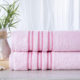 Sada 2 kusů froté ručníků FIRUZE růžová 50 x 100 cm