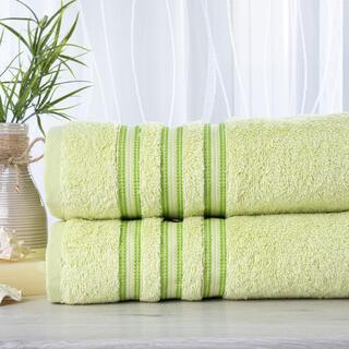 Sada 2 kusů froté ručníků FIRUZE světle zelená 50 x 100 cm