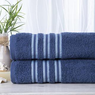 Sada 2 kusů froté ručníků FIRUZE tmavě modrá 50 x 100 cm