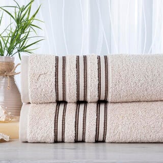 Sada 2 kusů froté ručníků FIRUZE smetanová 50 x 100 cm