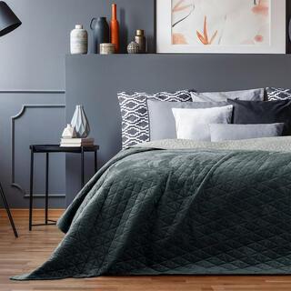 Přehoz na postel LAILA šedá, jednolůžko
