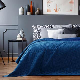 Přehoz na postel LAILA královská modrá, jednolůžko