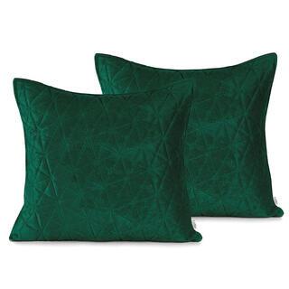 Polštářek LAILA zelená 45 x 45 cm, sada 2ks