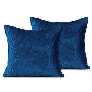 Povlaky na polštářky LAILA královská modrá 45 x 45 cm, sada 2ks