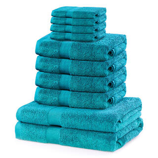 Sada froté ručníků a osušek MARINA tyrkysová 10 ks