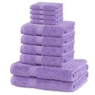 Sada froté ručníků a osušek MARINA lila 10 ks
