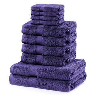 Sada froté ručníků a osušek MARINA purpurová 10 ks