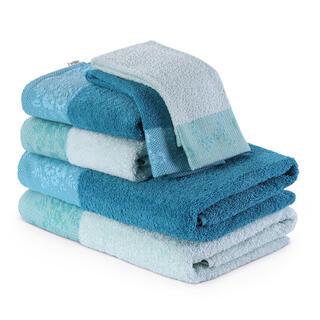 Sada froté ručníků a osušek CREA světle modrá 6 ks