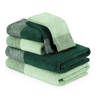 Sada froté ručníků a osušek CREA zelená 6 ks
