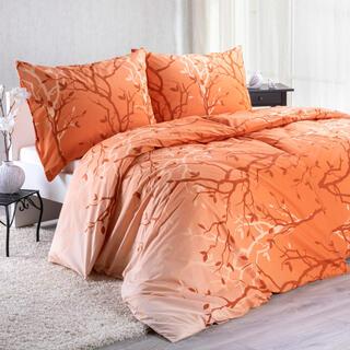 Bavlněné ložní povlečení PATRICIA oranžová