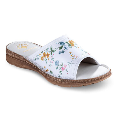 Dámské zdravotní pantofle s květinami
