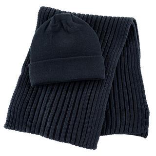 Pánský set čepice a šály černá