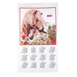 Textilní kalendář Kůň