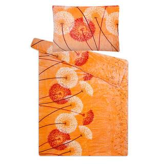 Ložní povlečení z mikroflanelu PAMPELIŠKA oranžová