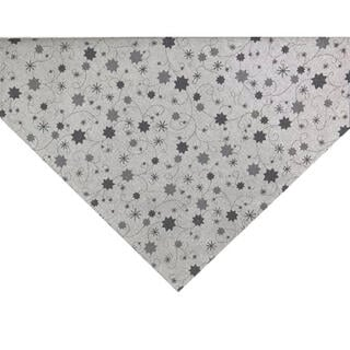 Středový ubrus LUREX šedá hvězda 65 x 65 cm
