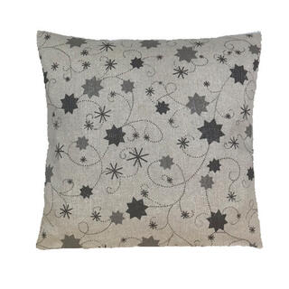 Povlak na polštář LUREX šedá hvězda 40 x 40 cm