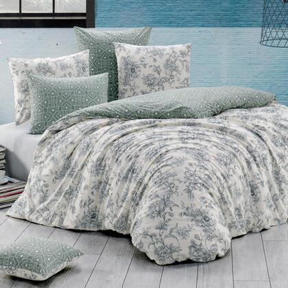 Bavlněné renforcé ložní povlečení ESTELITA smetanové, francouzská postel