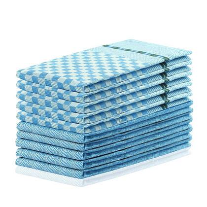 Bavlněné utěrky LOUIE modré 50 x 70 cm 10 ks
