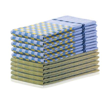 Bavlněné utěrky LOUIE žluté 50 x 70 cm 10 ks