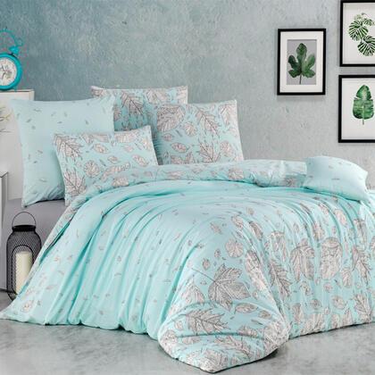 Bavlněné renforcé ložní povlečení HOSTTID mentolové, francouzská postel