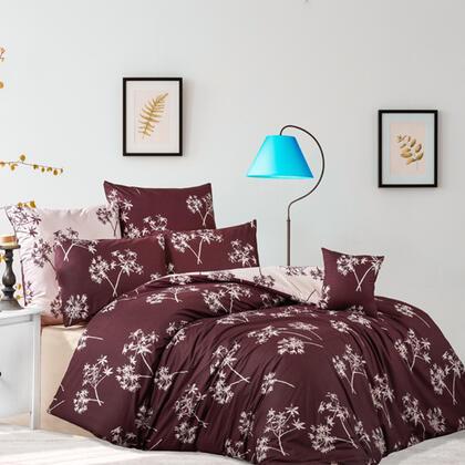 Bavlněné renforcé ložní povlečení IDIL burgundy, francouzská postel