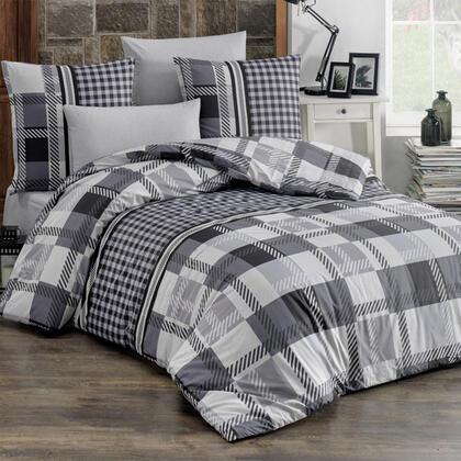 Bavlněné renforcé ložní povlečení HECTOR černé, francouzská postel
