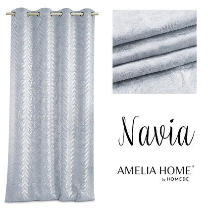 Závěs BLACKOUT NAVIA stříbrný 140 x 250 cm