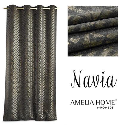 Závěs BLACKOUT NAVIA černozlatý 140 x 250 cm, 1 ks