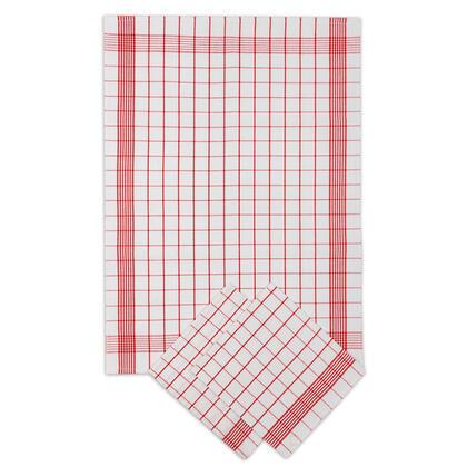 Bavlněné utěrky POZITIV červená 50 x 70 cm 3 ks