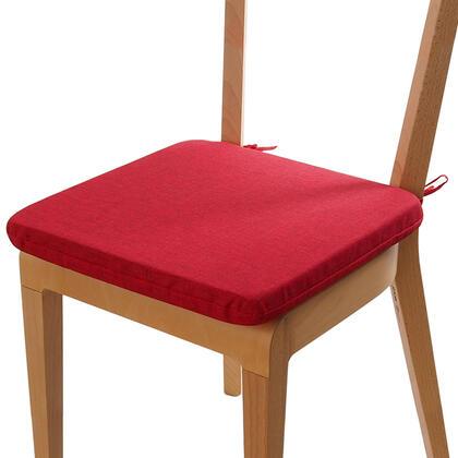 Podsedák s pratelným povlakem  BESSY červená, 1 ks