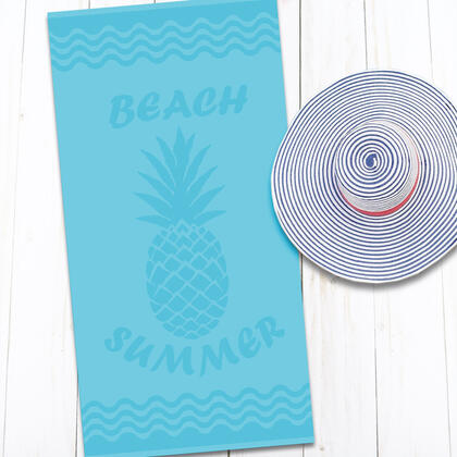 Bavlněná plážová osuška ANANAS 80 x 160 cm