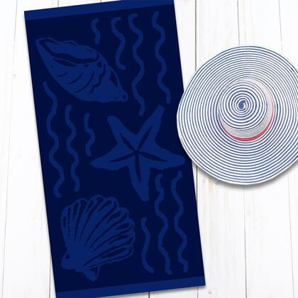 Bavlněná plážová osuška MOŘE 80 x 160 cm