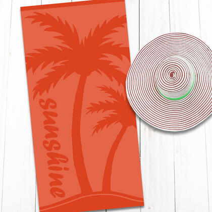 Bavlněná plážová osuška PALMA 80 x 160 cm