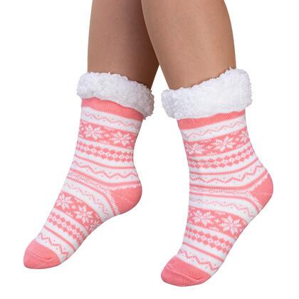 Ponožky na spaní BERIT lososové