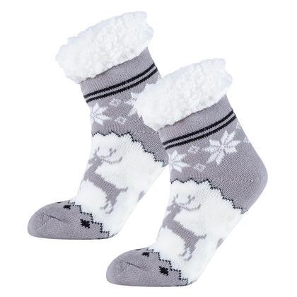 Ponožky na spaní nízké ASTRID šedé, vel. 39 - 41