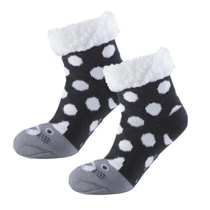 Dětské zimní ponožky na spaní KOČKA