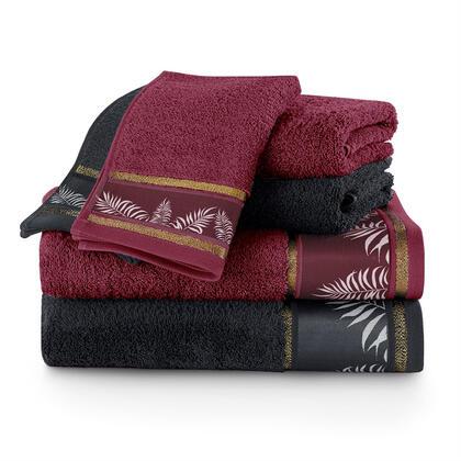 Sada ručníků a osušek PAVOS bordó 6 ks